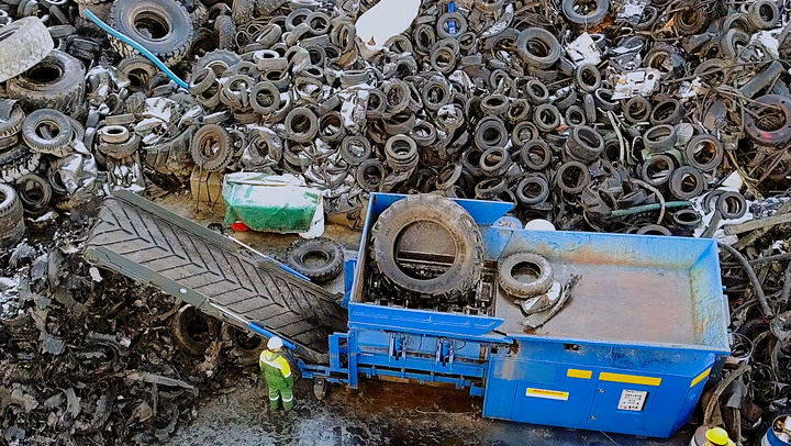 A power plant in Turkey is turning scrap tires into electricity for 30,000 people