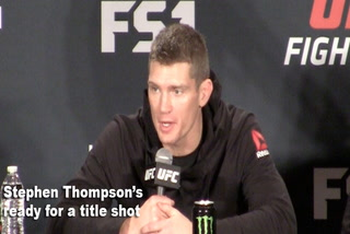 Stephen Thompson's ready for a title shot