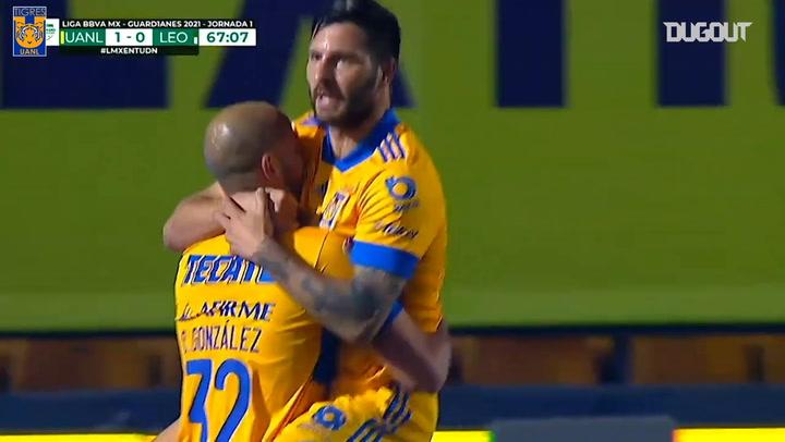 Carlos González's first Tigres goal
