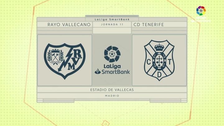 LaLiga SmartBank (J11): Resumen y goles del Rayo Vallecano 2-1 Tenerife