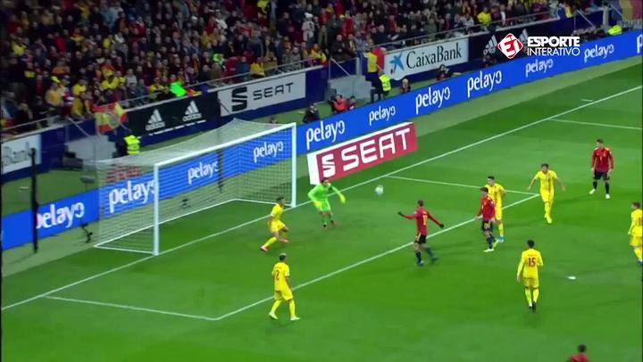 Gol de Fabián Ruiz en el España - Rumanía (1-0)