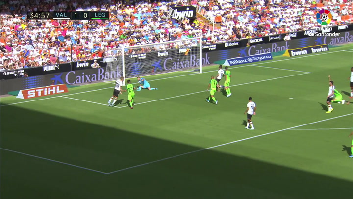 Gol de Óscar Rodríguez (1-1) en el Valencia 1-1 Leganés
