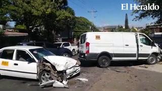 Al menos tres personas heridas en accidente en colonia 15 Septiembre