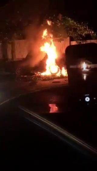 Hombre muere calcinado tras accidente en San Pedro Sula