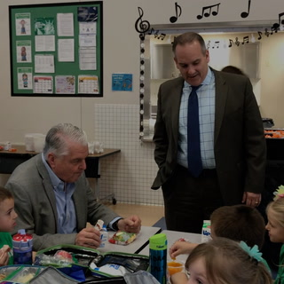 Governor, CCSD superintendent visit school for National School Lunch Week