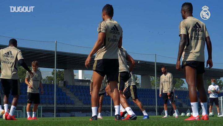 Casemiro'nun Real Madrid Antrenmanından Görüntüleri