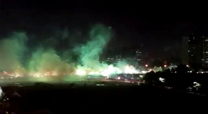 ¡Espectacular! La afición del Palmeiras tiñó de verde la semifinal de la Copa Libertadores
