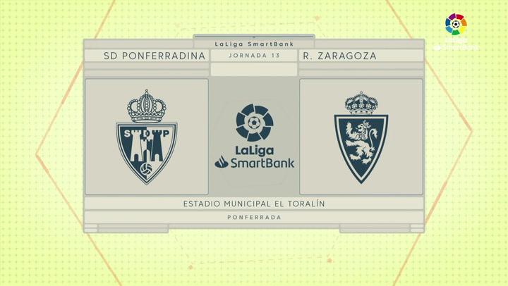 LaLiga SmartBank (J13): Resumen y goles del Ponferradina 2-1 Zaragoza