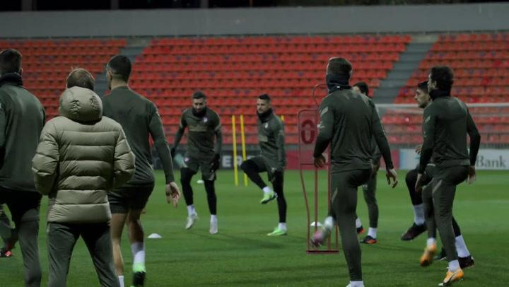 El Atlético de Madrid se prepara con vistas al 'derbi' frente al Real Madrid