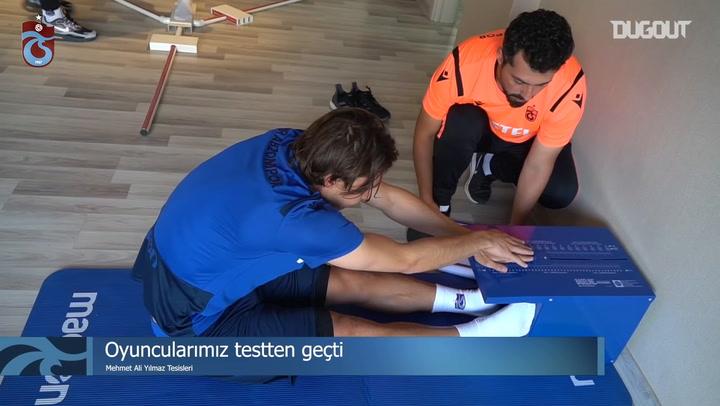 Trabzonsporlu Futbolcular Testten Geçti