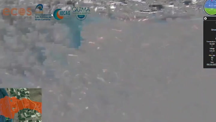 Underwater footage shows smoke and bubbles rising from lava delta in La Palma