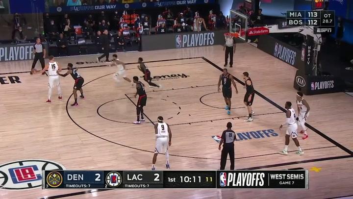 Nikola Jokic jugador destacado de la jornada de la NBA (15/09/2020)