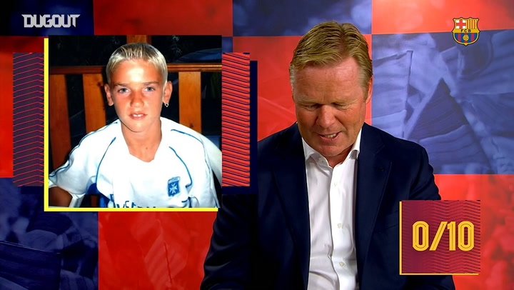 Koeman takes the Guess the baby challenge