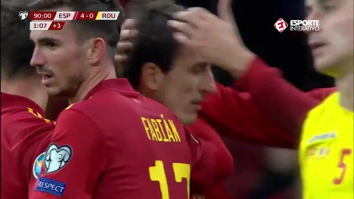 Gol de Mikel Oyarzábal en el España - Rumanía (5-0)