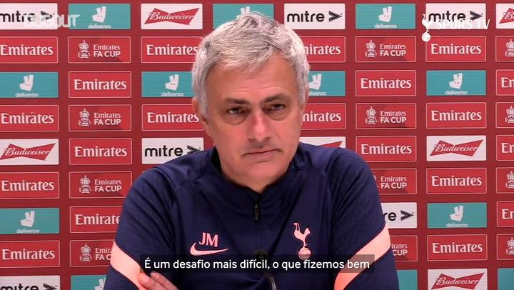 Mourinho prevê 'jogo difícil' contra o Wycombe na FA Cup