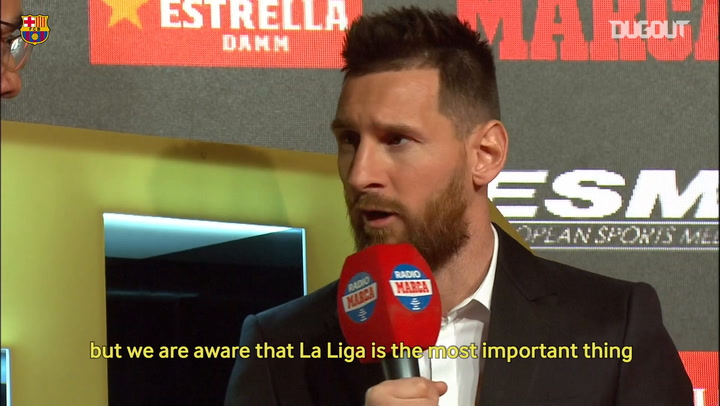 Lionel Messi: 'We are Barcelona and we aim to win everything.'