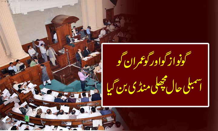 Opposition in Punjab Assembly on protest against GOVT