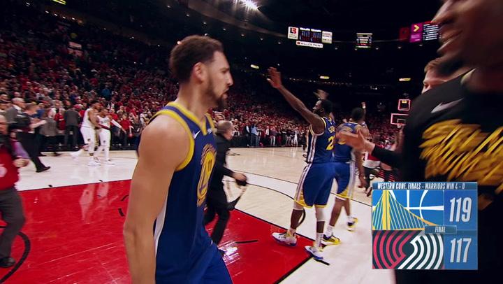 El resumen del Blazers-Warriors del playoff de la NBA