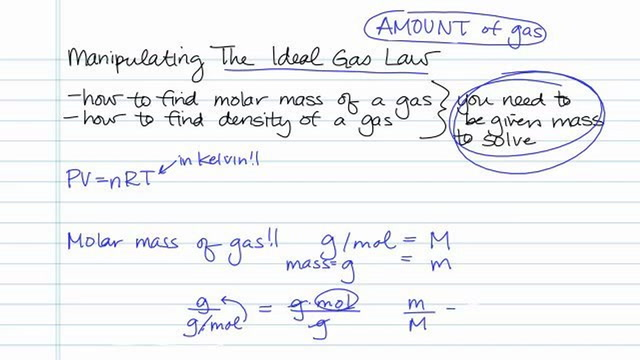 Tips on How to Manipulate the Ideal Gas Law