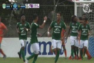 Yaudel Lahera anota el 1 - 0 de Marathón ante UPN