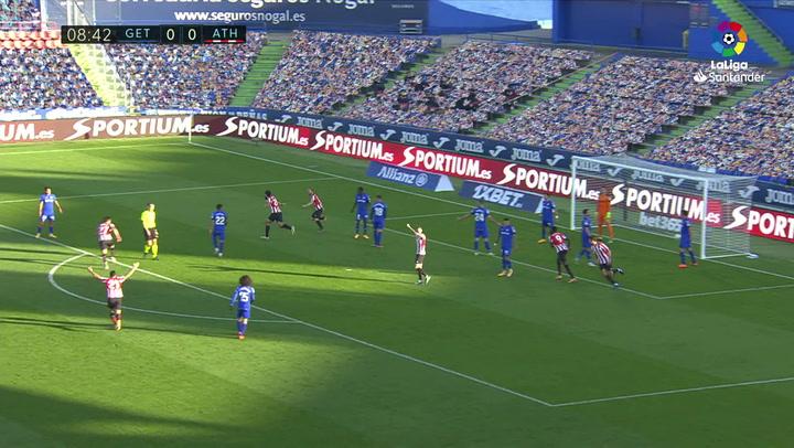 Gol de Villalibre (0-1) en el Getafe 1-1 Athletic
