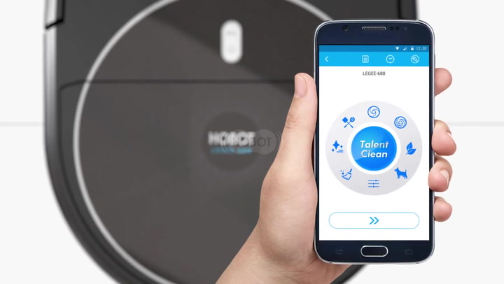 Preview image of Hobot Legee 688 4-in-1 Robot Vacuum & Mop With Wif video