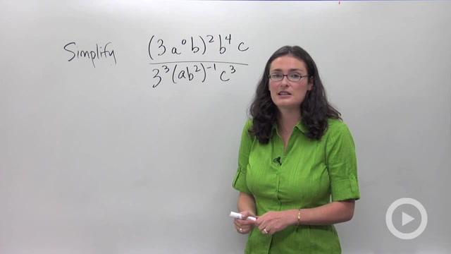 Simplifying Expressions with Exponents - Problem 3