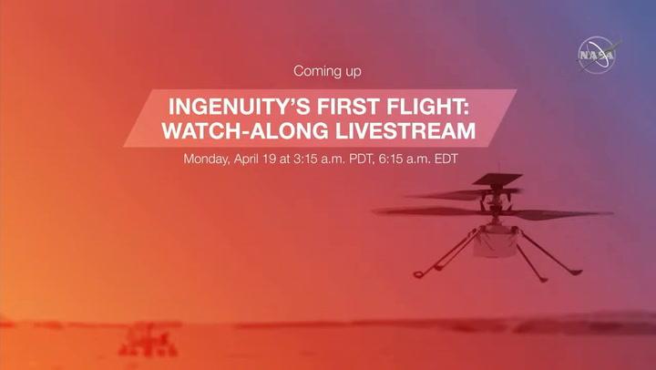 Así ha sido el primer vuelo del helicóptero Ingenuity de la NASA sobre Marte