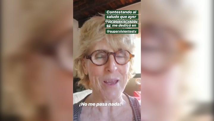 Mercedes Milà tranquiliza a sus seguidores en Instagram