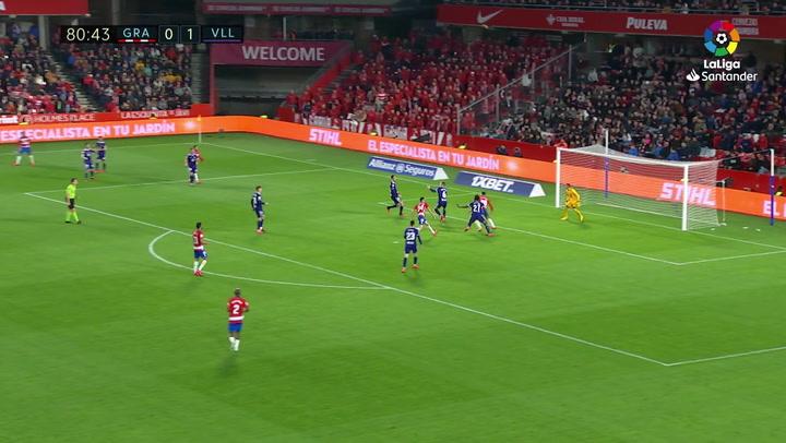 Gol de Puertas (1-1) en el Granada 2-1 Valladolid