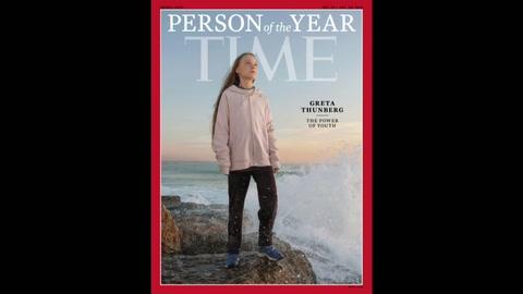La activista ambiental Greta Thunberg, personalidad del año de la revista TIME