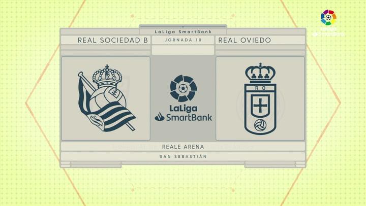 LaLiga SmartBank (J10): Resumen y goles del Real Sociedad B 1-1 Real Oviedo