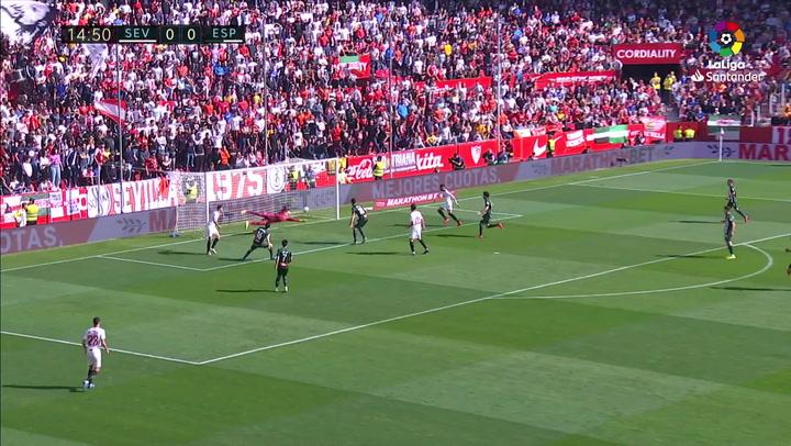 Gol de Ocampos (1-0) en el Sevilla 2-2 Espanyol