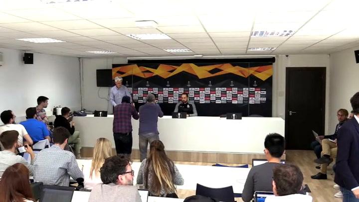 Rueda de prensa de Pablo Machín y Víctor Sánchez, previa del partido ante el Ludogorets