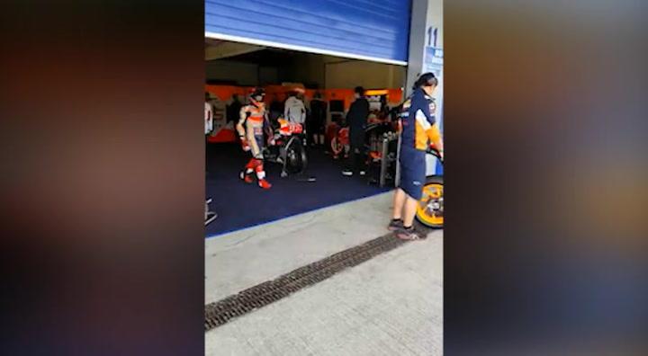 Los hermanos Márquez han coincidido por primera vez en el box Repsol Honda