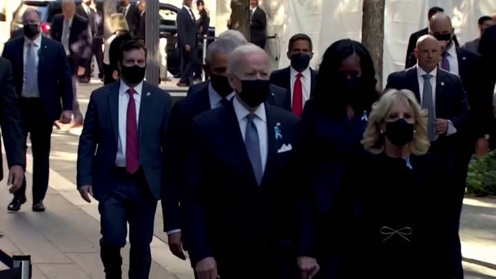 9/11 memorial: Presidents Biden, Obama and Clinton arrive at Ground Zero