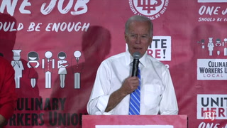 Joe Biden at the national hospitality workers union.