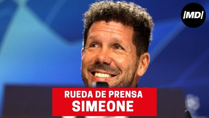 """Simeone: """"A doble partido hay un 50% de opciones para todos"""""""