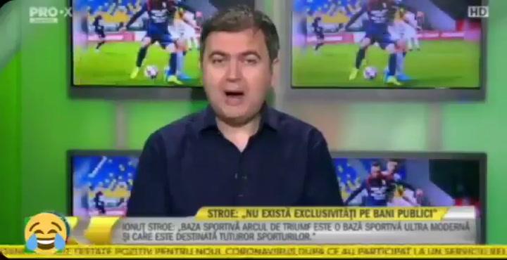 Pillada en pleno directo al ministro de deportes de Rumanía