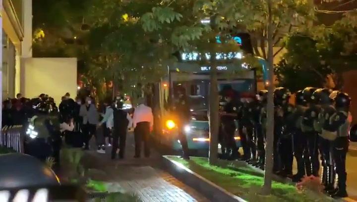 La llegada de Messi al hotel de concentración en Lima