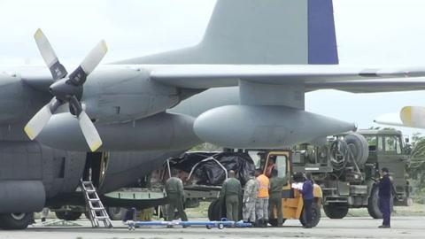 Restos de víctimas de avión chileno llegan a base militar en Punta Arenas