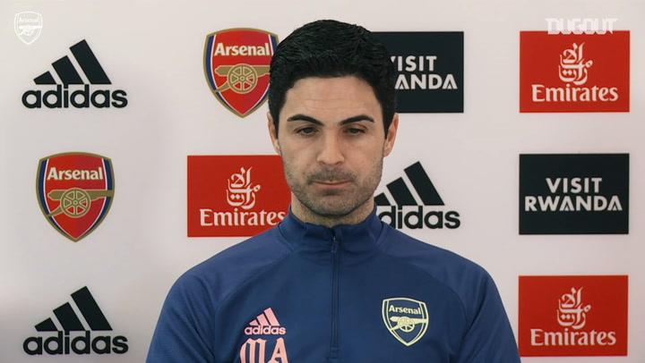 Arteta updates Aubameyang injury and team selection ahead of Man City