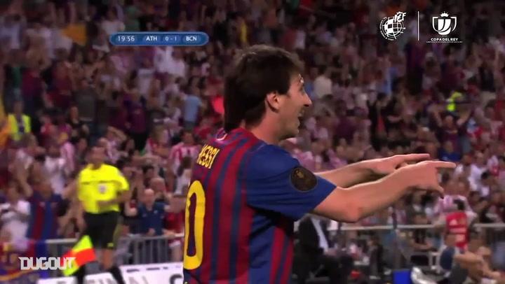 Lionel Messi, um dos maiores artilheiros da Copa do Rei