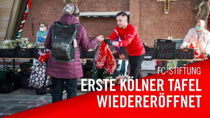 Erste Kölner Tafel wiedereröffnet