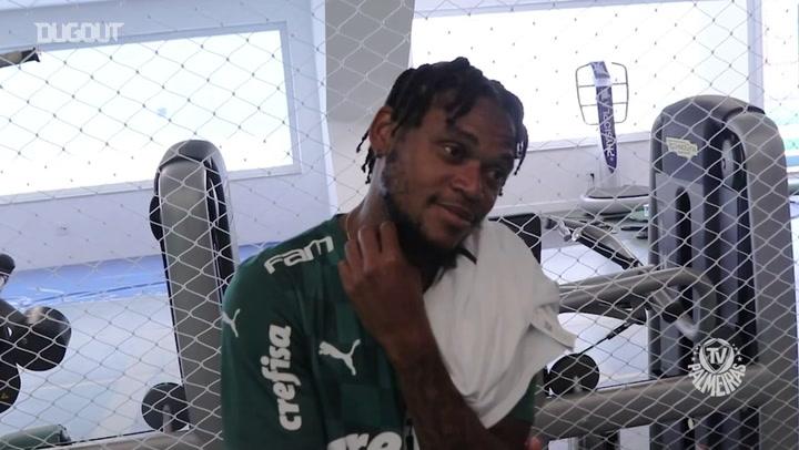 Bastidores das filmagens do novo uniforme do Palmeiras