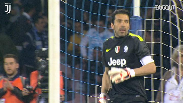 Buffon's spectacular saves vs SSC Napoli