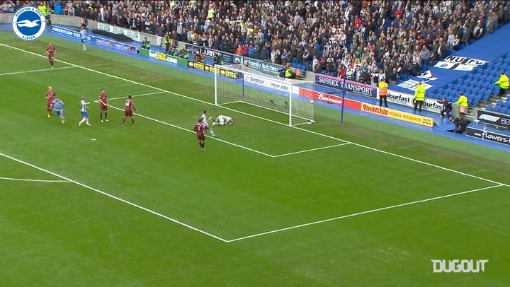 Brighton's top goals against Newcastle United