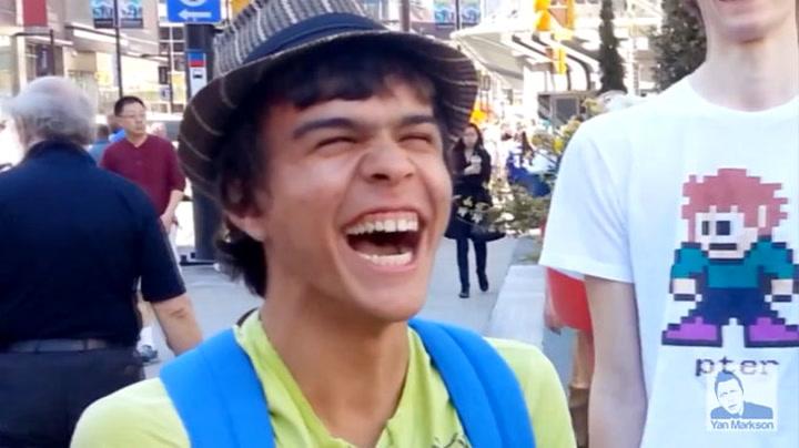 Enkelt triks får folk til å smile