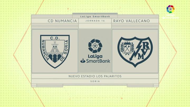 LaLiga SmartBank (J16): Resumen y goles del Numancia 2-2 Rayo Vallecano