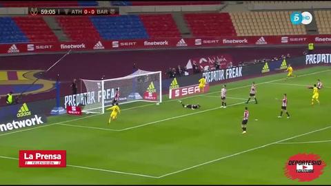 ¡Golazo! Conexión Messi-De Jong para que Griezmann abriera el marcador en la final de la Copa del Rey 2021